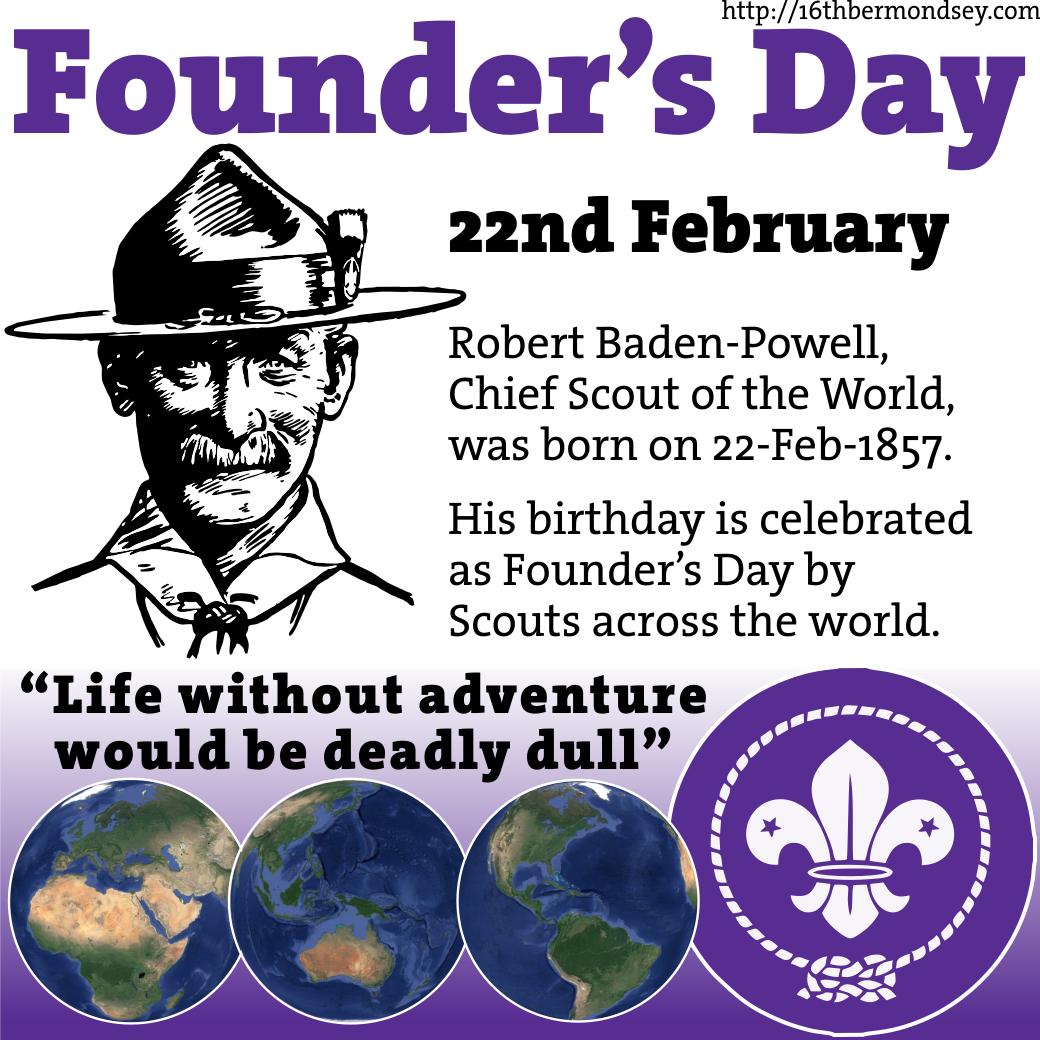Founder's Day, Baden Powell's birthday