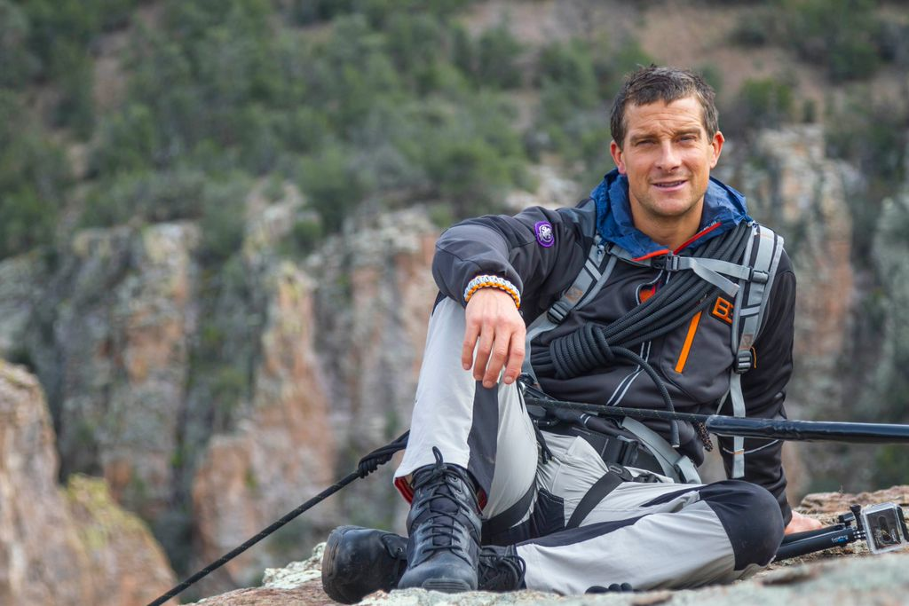 Bear Grylls, United Kingdom Chief Scout. Notice the Scout badge on his right arm